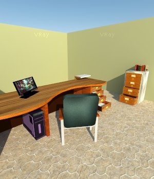 Office Furniture Pack A 3D Models holydragon78