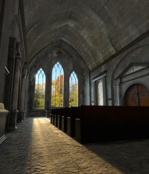 AJ Derelict Church 3D Models -AppleJack-