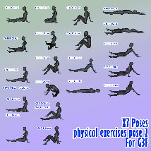 X7 Poses physical exercises pose 2 For G3F image 4