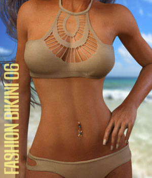 Fashion Bikini 06 for G3F 3D Figure Assets xtrart-3d