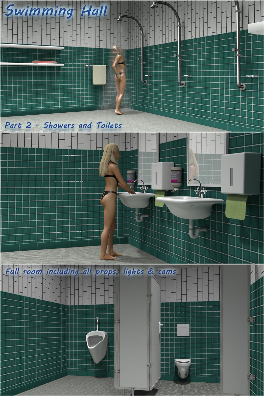 Swimming Hall Part 2 - Toilets and Showers by 3-d-c