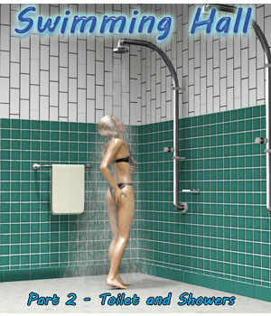 Swimming Hall Part 2 - Toilets and Showers 3D Models 3-d-c