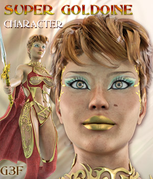 SUPER GOLDOINE for Genesis 3 Female(s) 3D Figure Assets Mar3D
