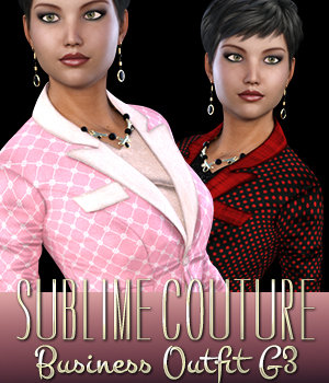 Sublime Couture for Business Outfit Genesis 3 Female(s) 3D Figure Assets 3DSublimeProductions