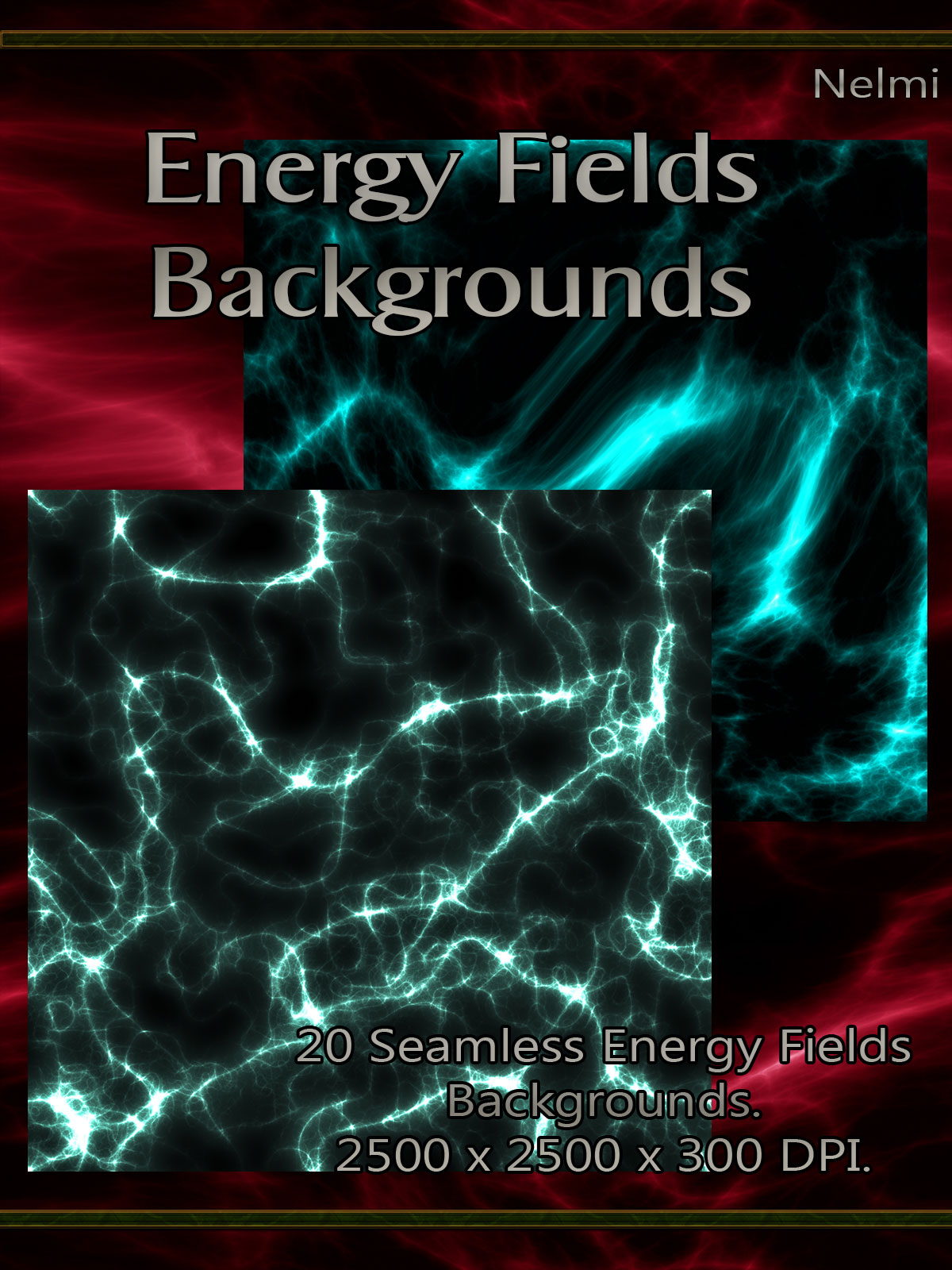 20 Seamless Energy Fields Backgrounds