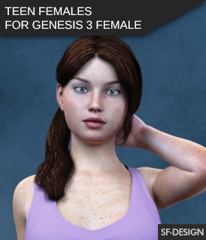 Teen Females - Shapes for Genesis 3 Female 3D Figure Assets SF-Design