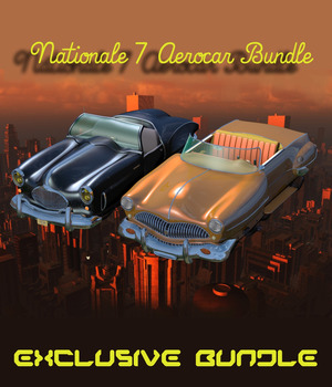 N7 AEROCAR BUNDLE ( Poser and OBJ ) 3D Models Nationale7