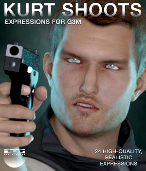DTG Studios' Kurt Shoots - Expressions for G3M 3D Figure Essentials DTHUREGRIF