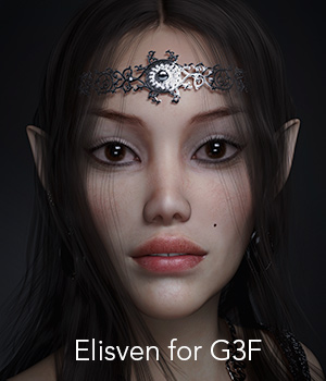 Elisven for G3F 3D Figure Essentials secondcircle