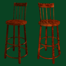 Bar and Stool fbx and obj image 1