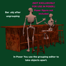 Bar and Stool fbx and obj image 4
