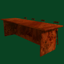 Bar and Stool fbx and obj image 5