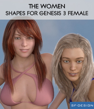 The Women - Shapes for Genesis 3 Female 3D Figure Assets SF-Design