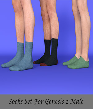Socks Set For Genesis 2 Male 3D Figure Essentials arti122