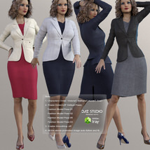 Business Outfits Package for Genesis 3 Females image 8