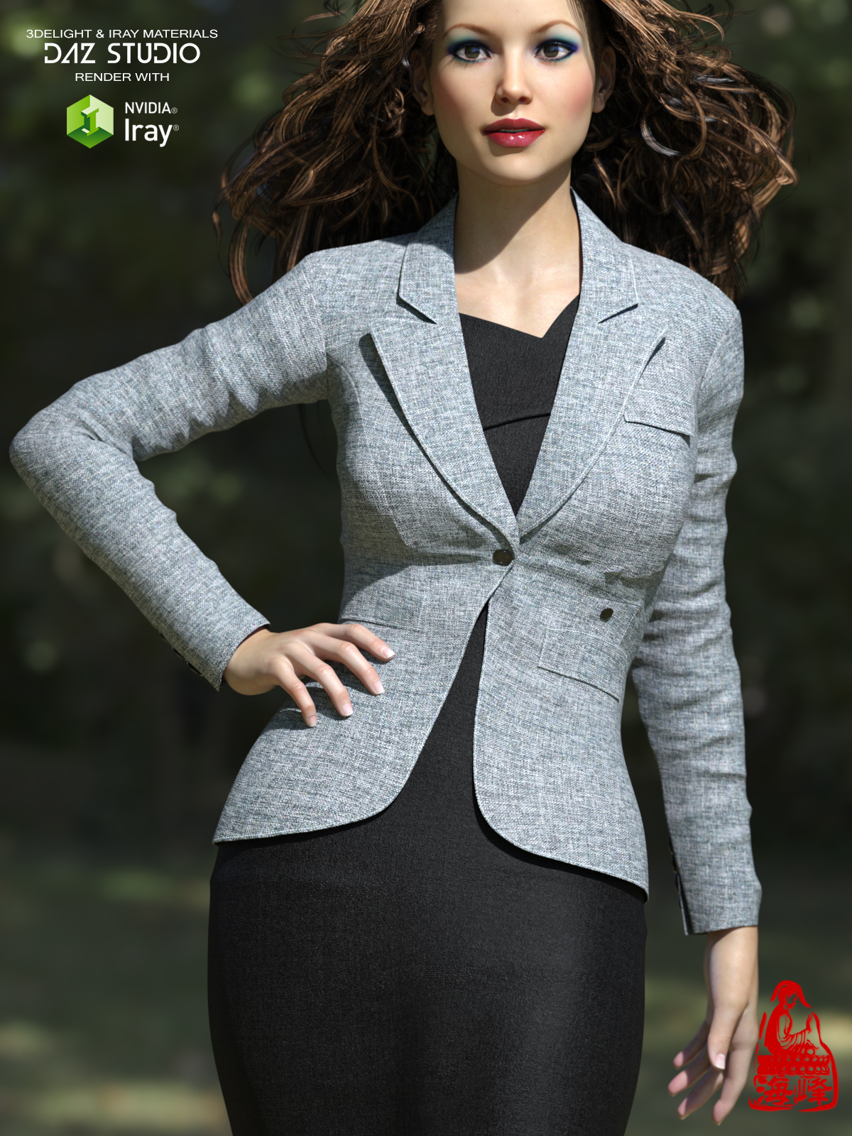 Blazer of Business Outfits for Genesis 3 Female  by RainbowLight