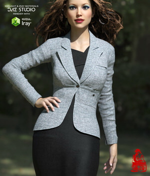 Blazer of Business Outfits for Genesis 3 Female  3D Figure Assets RainbowLight