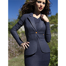 Blazer of Business Outfits for Genesis 3 Female  image 5