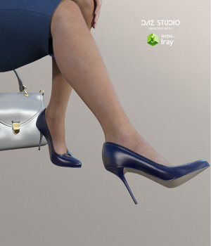 Shoes of Business Outfits for Genesis 3 Female(s) 3D Figure Assets RainbowLight