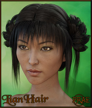 Prae-Lian Hair for Genesis 3 3D Figure Assets prae