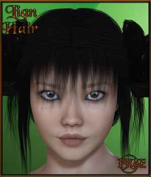 Prae-Lian Hair for V4 3D Figure Assets prae