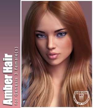 Amber Hair for Victoria 4, Genesis 2 Female(s) and Genesis 3 Female(s) 3D Figure Essentials outoftouch