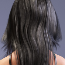 Amber Hair for Victoria 4, Genesis 2 Female(s) and Genesis 3 Female(s) image 1