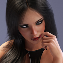 Amber Hair for Victoria 4, Genesis 2 Female(s) and Genesis 3 Female(s) image 2