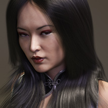 Amber Hair for Victoria 4, Genesis 2 Female(s) and Genesis 3 Female(s) image 6