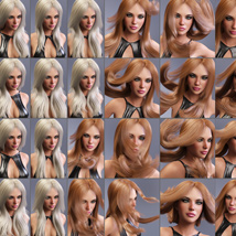 Amber Hair for Victoria 4, Genesis 2 Female(s) and Genesis 3 Female(s) image 8