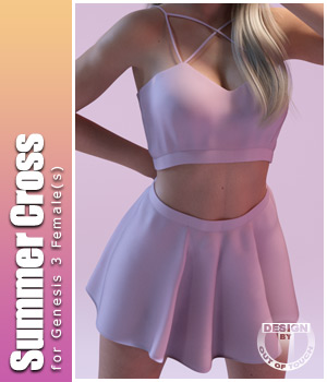 Summer Cross Fashion for Genesis 3 Female(s) 3D Figure Essentials outoftouch