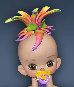 Lil Toon Hair Expansion 3D Figure Essentials Leilana