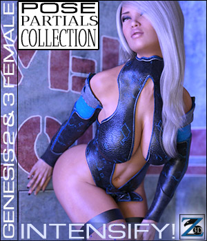 Z Intensify! - Pose Separates Collection - G2F-V6/G3F-V7 3D Figure Essentials Zeddicuss