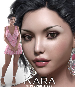 Kara for Genesis 3 3D Figure Essentials Rhiannon