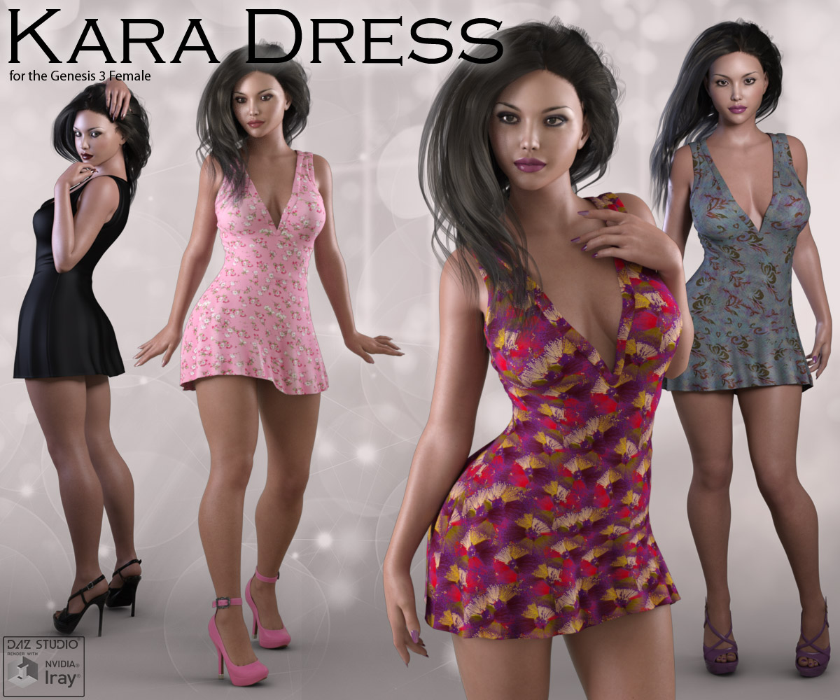 Kara Dress for Genesis 3