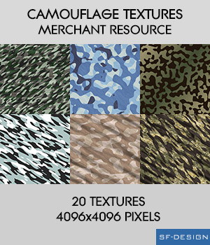Camouflage Textures - Merchant Resource 2D Merchant Resources SF-Design
