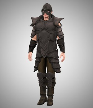 Leather Armor (M4) (for Poser) 3D Figure Essentials VanishingPoint
