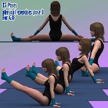 X7 Poses physical exercises pose 3 For G3F image 4