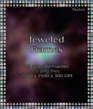 Merchant Resource: 15 Jeweled Frames 2D Merchant Resources nelmi