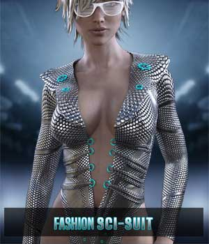 Fashion SciSuit for G3F 3D Figure Essentials xtrart-3d