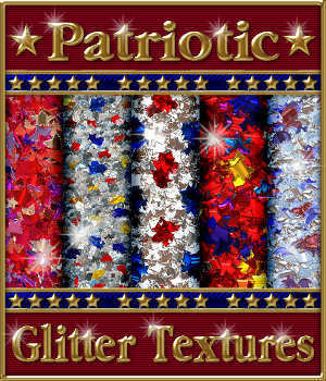 Patriotic Glitterized Seamless Textures 2D Merchant Resources fractalartist01