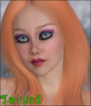Twizted Amber Hair 3D Figure Essentials TwiztedMetal