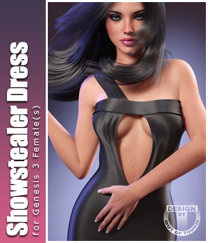 Showstealer Dress for Genesis 3 Female(s) 3D Figure Essentials outoftouch