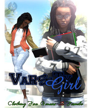 VARSITY GIRL for Genesis 2 Female(s) 3D Figure Essentials samsil