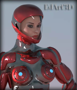 Pin-Up Gynoid Phase5 for G3F 3D Figure Essentials EdArt3D