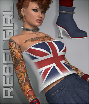 RebelGirl - Outfit V4 3D Figure Essentials P3D-Art