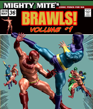 Brawls v01 MM4M 3D Figure Assets MightyMite