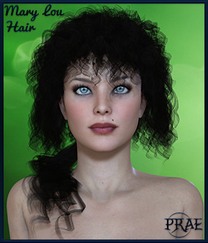 Prae-Marylou Hair  3D Figure Assets prae