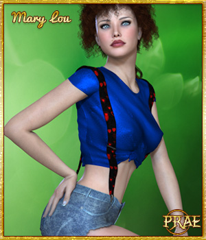 Prae-Marylou Outfit  3D Figure Assets prae