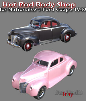 Hot Rod Body Shop Series 1 for Nationale7 Ford Coupe 1940 3D Figure Assets 3D Models freeone1